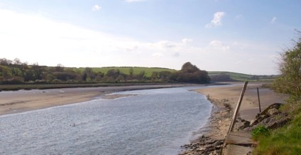 A view of the estuary from the boat yard quay in Wadebridge, looking down river.
