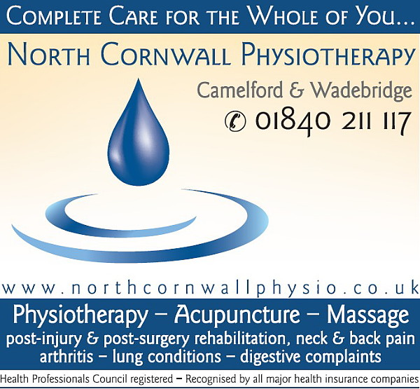North Cornwall Physiotherapy. Complete Care for the Whole of You. North Cornwall Physiotherapy was established in 2007 to provide high quality Physiotherapy services to the people of North Cornwall..